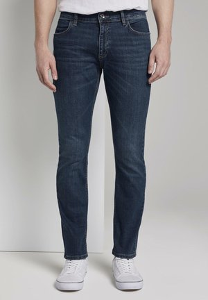 TOM TAILOR JEANSHOSEN JOSH REGULAR SLIM JEANS - Slim fit jeans - dark blue denim
