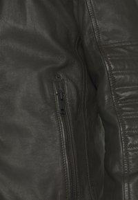 Strellson - DRIVER - Leather jacket - dark brown - 5