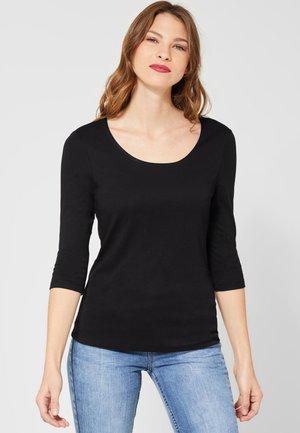 PANIA - Long sleeved top - black
