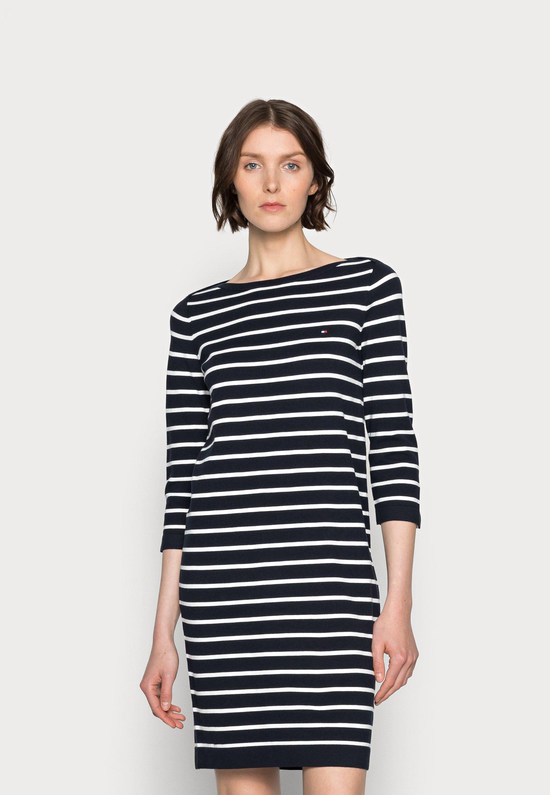 Mujer BOAT KNEE DRESS 3/4 SLEEVES - Vestido de punto