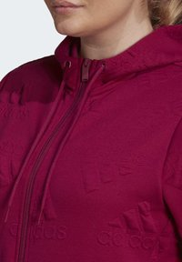 adidas Performance - AEROREADY JACQUARD FULL-ZIP LOGO HOODIE (PLUS SIZE) - Sudadera con cremallera - purple - 3