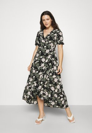 VMSAGA WRAP ANKLE DRESS - Maxi šaty - black