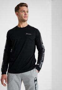 Champion - LONG SLEEVE CREWNECK  - Långärmad tröja - black - 0