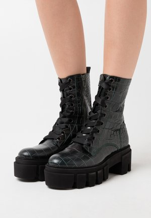 ROOM - Platform ankle boots - bottle