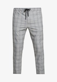 POW CHECK SMART JOGGER - Trousers - grey