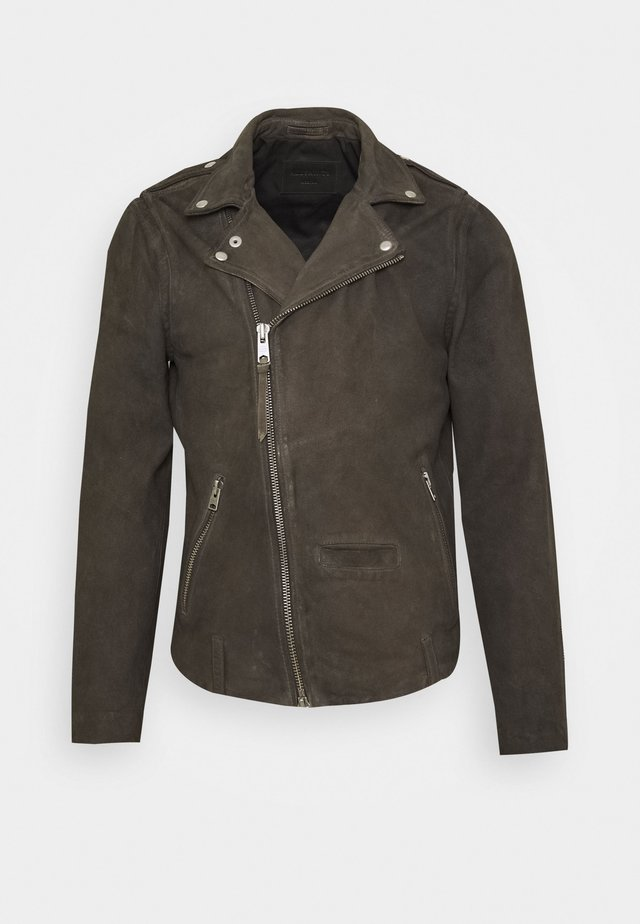 JADON BIKER - Leather jacket - anthracite