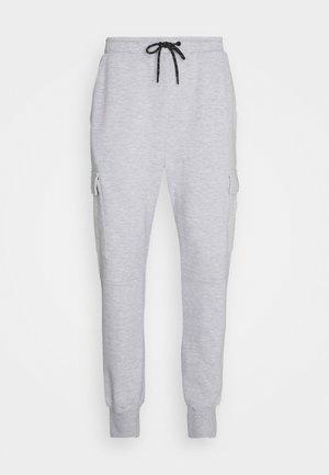JJIGORDON JJAIR PANTS - Cargo trousers - light grey melange