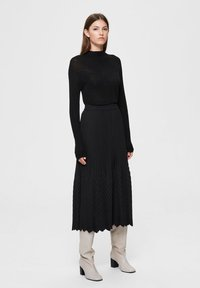 Selected Femme - A-line skirt - black - 1