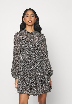 DRAWCORD SMOCK DRESS - Skjortekjole - black