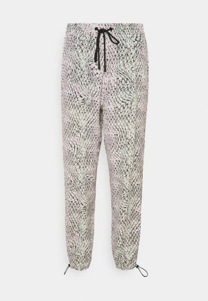 PANTALONE TESSUTO - Trousers - stampa fondo bianco
