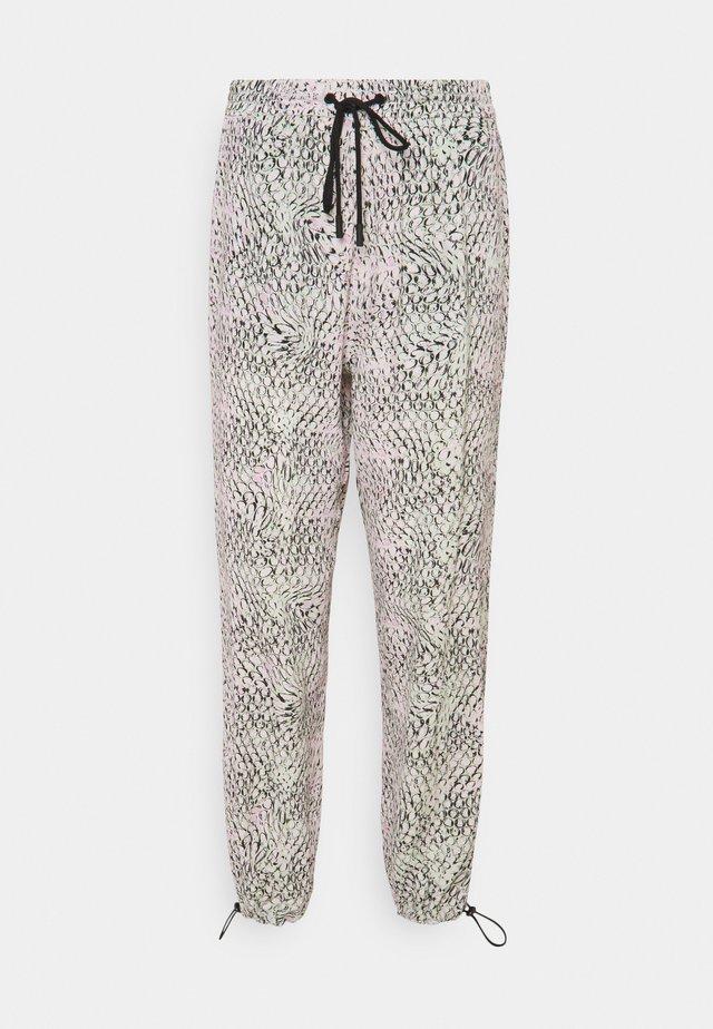 PANTALONE TESSUTO - Pantalon classique - stampa fondo bianco