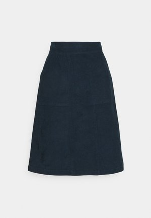 MAREN CORD SKIRT - A-line skirt - dusty navy