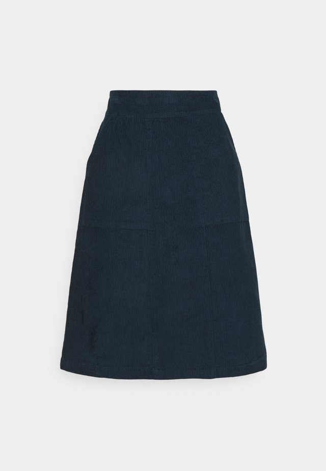 MAREN CORD SKIRT - A-linjekjol - dusty navy