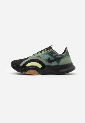 SUPERREP GO - Sports shoes - black/spiral sage/med brown