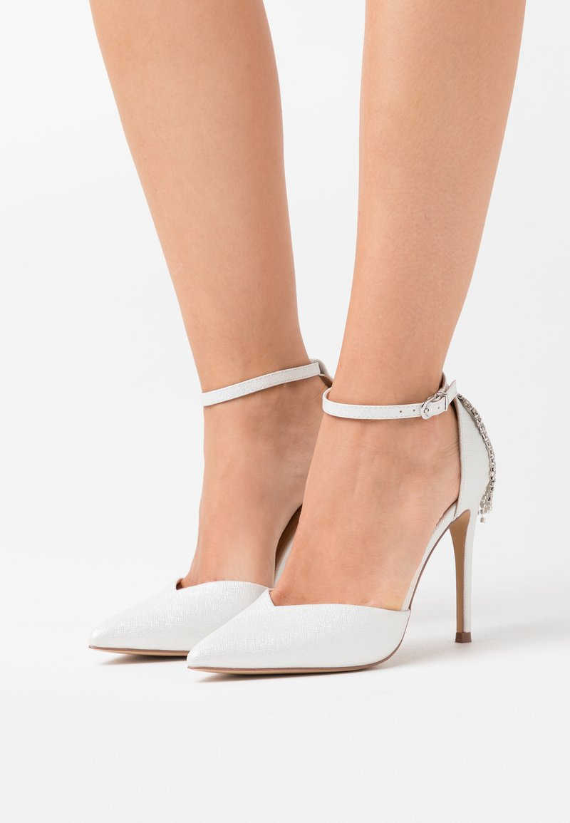 Wallis - CLEMETIS - High heels - white shimmer