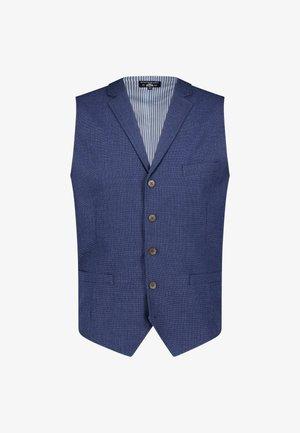 Suit waistcoat - cobalt plain
