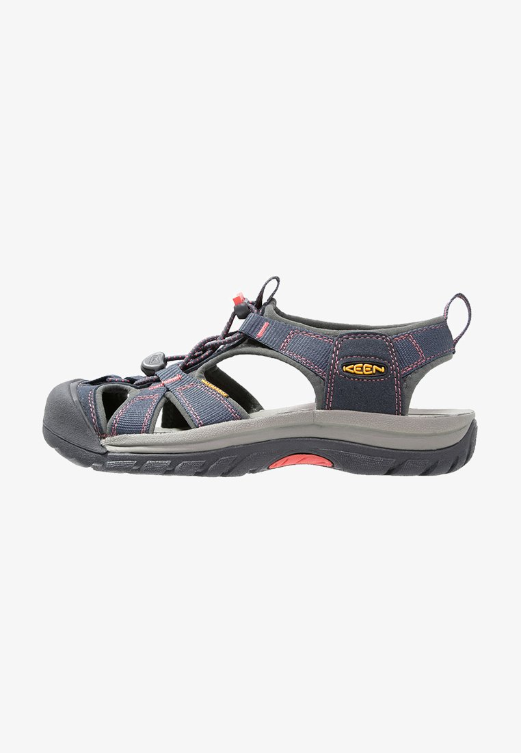 Keen - VENICE H2 - Walking sandals - midnight navy/hot coral