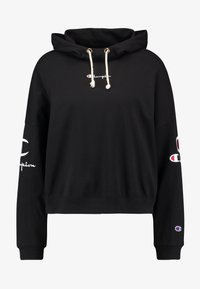 Champion Reverse Weave - SLEEVE LOGO HOODED - Langærmede T-shirts - black - 4
