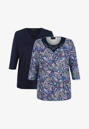 Long sleeved top - marineblau/rosé