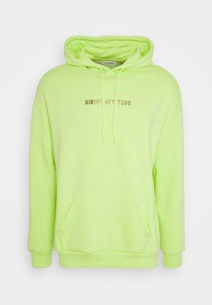 Mikina skapucí - neon green