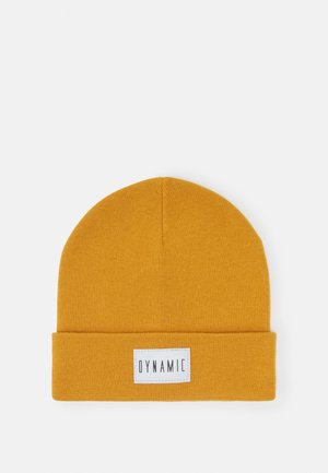 REFLECTIVE BADGE FOLDED UP - Beanie - dark dusty yellow