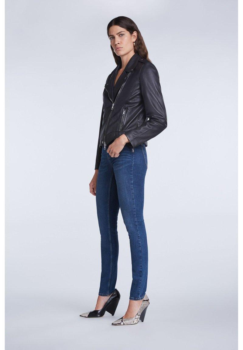SET - Slim fit jeans - darkblue denim