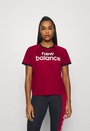 ACHIEVER GRAPHIC HIGH LOW - Print T-shirt - red