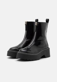 Missguided - ZIP UP STITCH DETAIL CHUNKY BOOTS - Platåstøvletter - black - 2