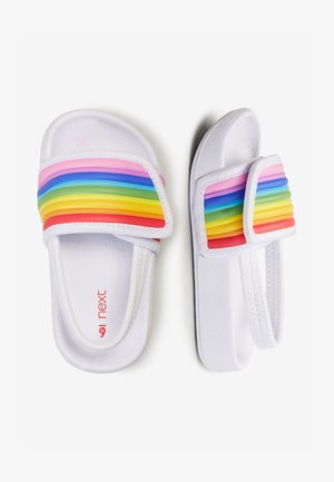 RAINBOW POOL SLIDERS (YOUNGER) - Chanclas de baño - white