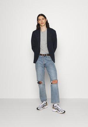 LOGO TEE 2 PACK - Basic T-shirt - grey/dark blue