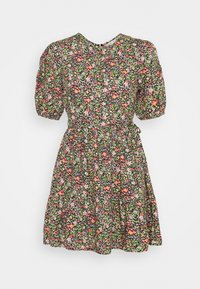 Miss Selfridge - CLUSTER FLORAL DRESS - Denní šaty - black - 4
