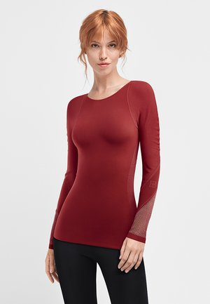 Long sleeved top - currant berry/ash