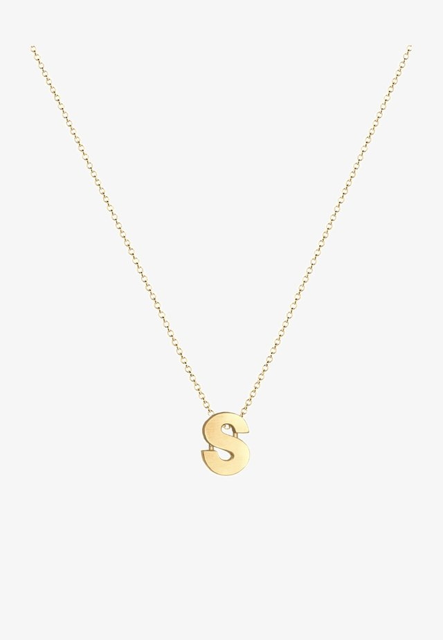 BUCHSTABE S INITIALEN  - Ketting - gold-coloured