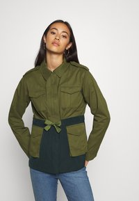 Scotch & Soda - TWO TONE FIELD JACKET  - Lehká bunda - green - 0