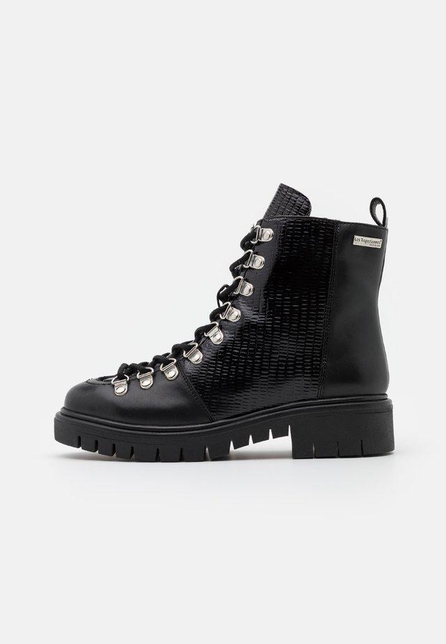ZANTIS - Šněrovací kotníkové boty - noir