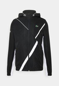 Lacoste Sport - SET TENNIS TRACKSUIT HOODED - Survêtement - black/white - 2