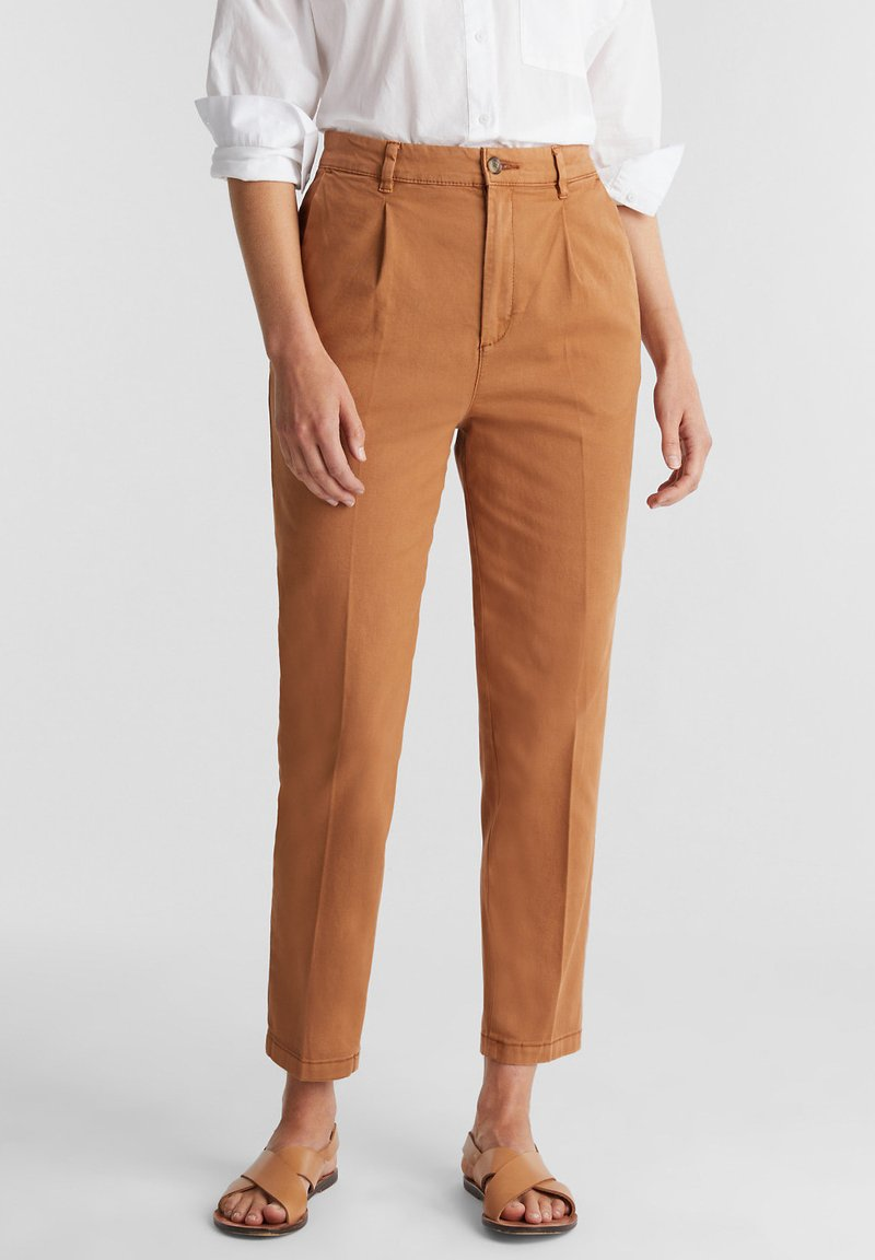 Esprit - FASHION - Trousers - rust brown