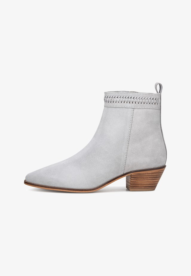 Ankle boots - hellgrau