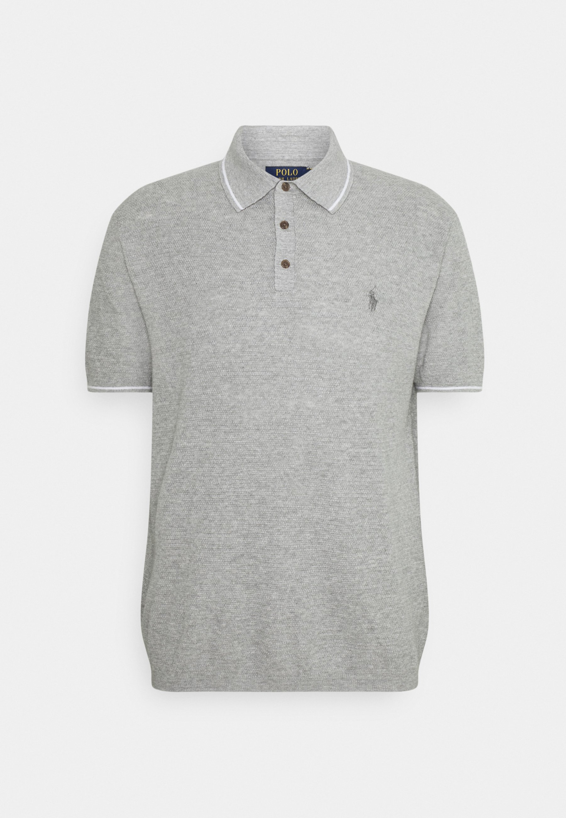 Men COTTON-LINEN POLO SHIRT SWEATER - Polo shirt