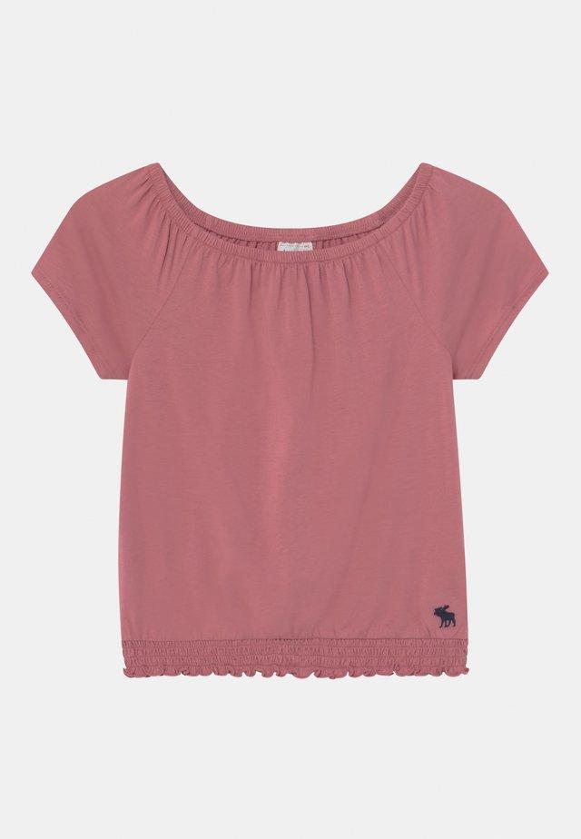 T-shirt med print - blush