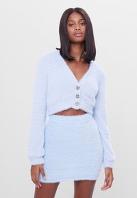 Bershka - FUZZY - Kardigan - light blue - 0