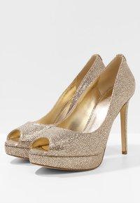 MICHAEL Michael Kors - ERIKA PLATFORM - Peeptoe heels - silver/sand - 4