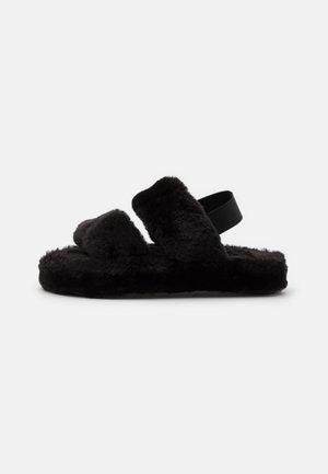 STRIPE - Slippers - black