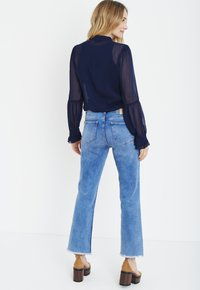 PULZ - PXSTARBLUE SHIRT - Button-down blouse - dark sapphire - 3