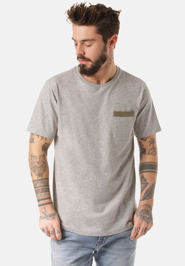 MOUNTAIN T-SHIRT DALO - Print T-shirt - grey