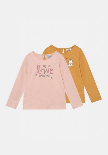 2 PACK - Long sleeved top - shell/golden apricot