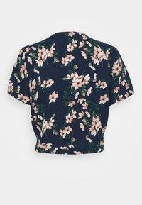 Vero Moda - VMSIMPLY EASY SHIRT TIE - Blouse - navy blazer/imma - 1