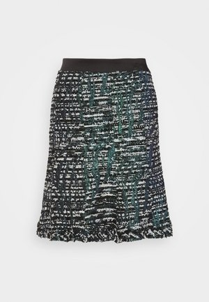SPARKLE BOUCLE SKIRT - A-line skirt - green