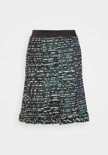 SPARKLE BOUCLE SKIRT - A-line skirt - green