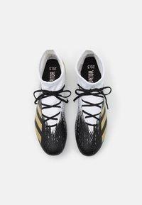 adidas Performance - PREDATOR 20.3 FOOTBALL BOOTS MULTI GROUND - Moulded stud football boots - footwear white/gold metallic/core black - 3